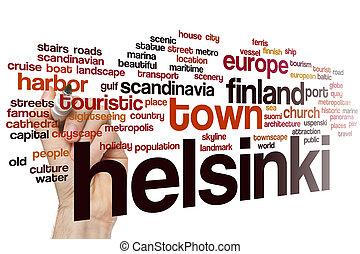 Helsinki word cloud concept