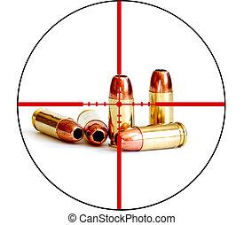 helyes, lövedék, crosshairs, hord, fegyver, taktikai, hadi