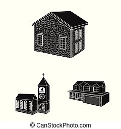 helyreállítás, vektor, otthon, stock., jelkép., ikon, állhatatos, infrastruktúra, elszigetelt, cél