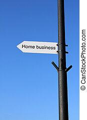 hem- affär, underteckna