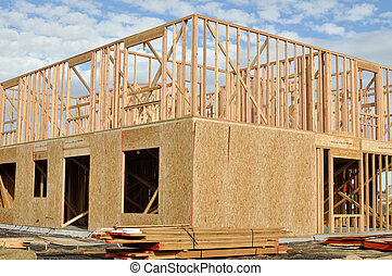 hem, färsk, konstruktion, under