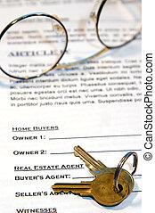 hem, försäljning, avtal