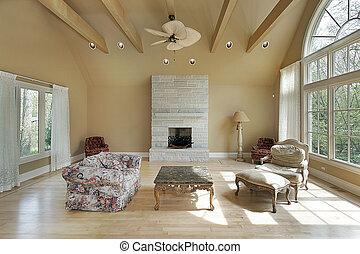 hem, levande, konstruktion, rum, färsk