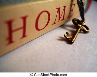 hem, min, första