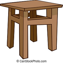 hem, stol, tecknad film, möblemang