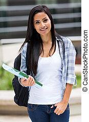 hembra, estudiante de la universidad, retrato