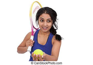 hembra, jugador del tenis