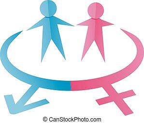hembra, macho, símbolos
