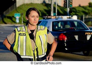 hembra, oficial de policía