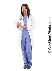 hembra, trabajador asistencia sanitaria