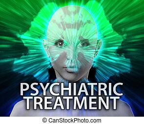 hembra, tratamiento psiquiátrico