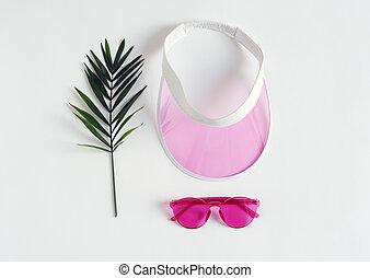 hembra, verano, accesorios