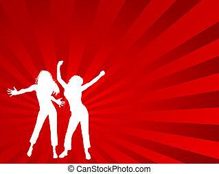 hembras, bailando