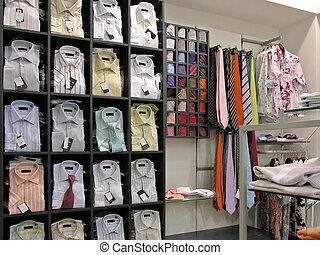 hemden, in, kaufmannsladen
