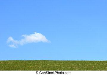 hemel, aarde, wolk