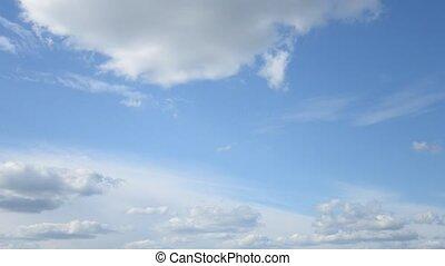 hemel, bewegende wolken