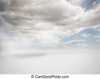 hemel, bewolkt, achtergrond