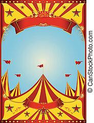 hemel, circus, groot bovenst