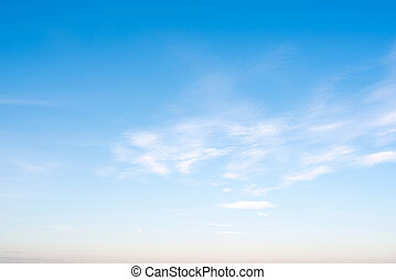 hemel, duidelijk, wolken