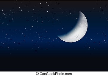 hemel, half maan