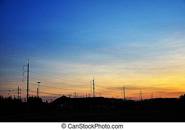 hemel, ondergaande zon , kleurrijke