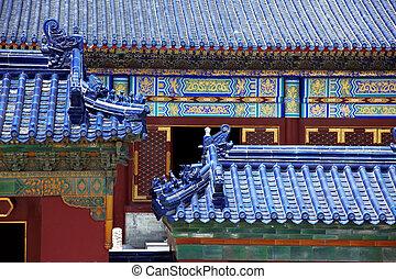 hemel, oud, dak, imperiaal, china, beijing, gewelf