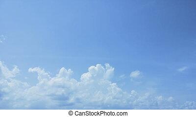 hemel, timelapse., wolken, dag
