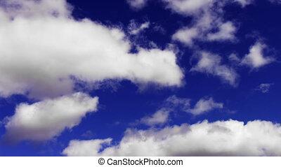 hemel, verhuizing, timelapse bewolkt, zacht