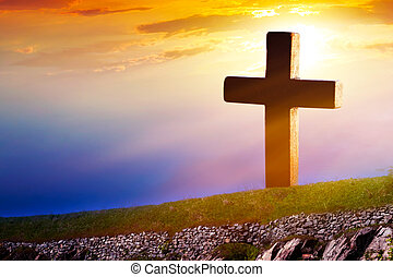 hemels, kruis, ., religie, symbool, vorm, .