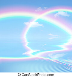 hemels, regenboog, beauty