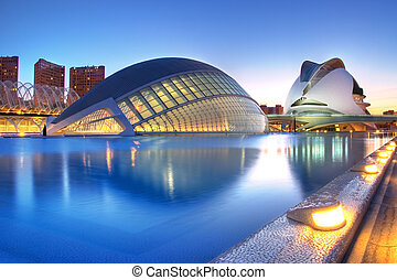 Valencia, Spain - Hemisferic and Palau de Les Arts in...