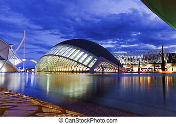 Hemisferic futuristic building in the City of Arts and Sciences, Valencia, Spain, Europe