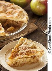 hemlagat, organisk, äpple tårta, efterrätt