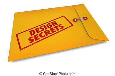 hemligheter, kuvert, kreativitet, illustration, fantasi, design, 3