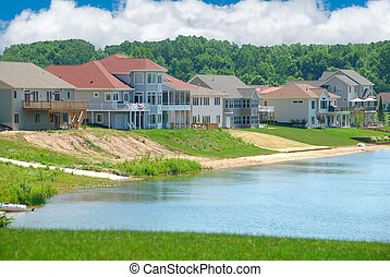 hemmen, lyxvara, sommar, lakeside