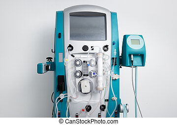 Hemodialysis machine with tubing and installations. Health...