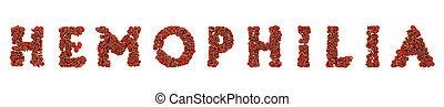 Hemofilia medical concept