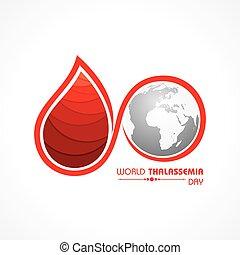 hemoglobina, thalassemia, year., caracterizado, decreased, ...