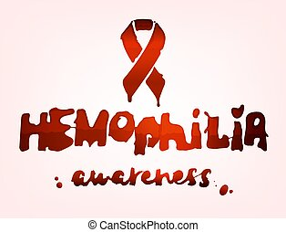 Hemophilia lettering image