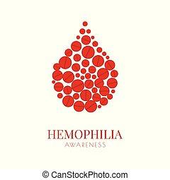 Hemophilia poster with pills drop - World Hemophilia Day. ...