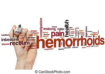 Hemorrhoids word cloud concept