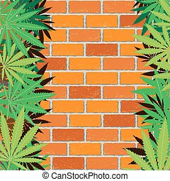 hemp and brick wall background