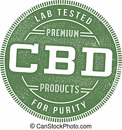 Lab tested CBD product packaging stamp.