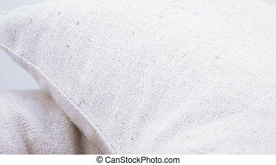 Hemp fabric cushions - Texture of hemp fabric cushions