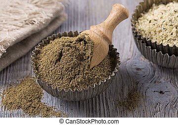 Gluten free hemp flour and seeds