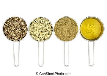 Hemp Food Ingredients - Hemp super food ingredients with...