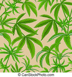 hemp vector pattern