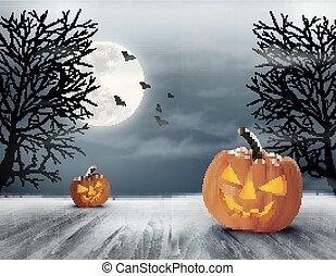 hemsökt av spöken, halloween, bakgrund.