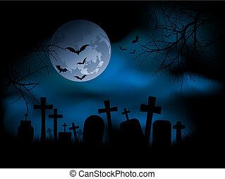 hemsökt av spöken, kyrkogård
