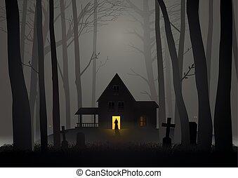 hemsökt av spöken, veder, hus